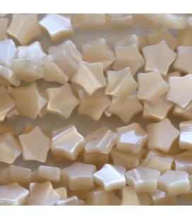 BeauMonde Jewelry - Mother-of-pearl 6 mm beige star