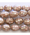 BeauMonde Jewelry - Mother-of-pearl mosaic oval Pearl 13 X 18 mm