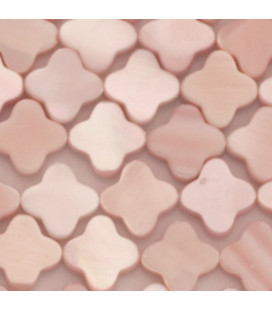 BeauMonde Jewelry - Pink mother-of-pearl 10 mm flat flower 4 petals
