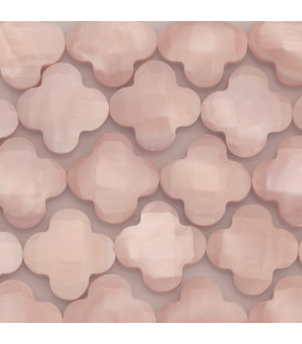 BeauMonde Jewelry - Clover 14 mm pink mother-of-pearl faceted