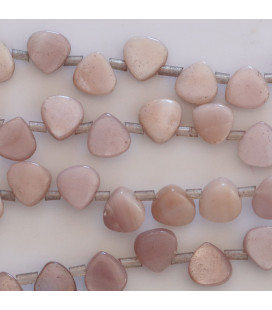 BeauMonde Jewelry - Pink mother-of-pearl 6x6 mm flat pansue drop pierced high