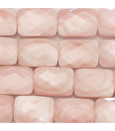 BeauMonde Jewelry - Mother-of-pearl 10 x14 mm pink rectangle