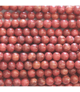 Gorgon coral 4 mm round bead treated dyed