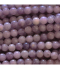 Lepidolite round pearl smooth Africa 6 mm