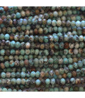 Turquoise Africa 2X3 mm faceted washer