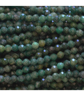BeauMonde Jewelry - Green jade 3 mm round faceted bead Africa