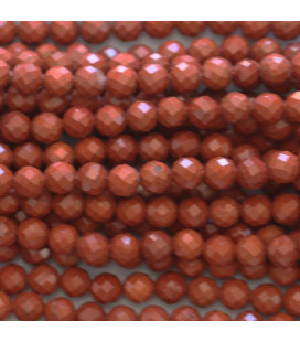 BeauMonde Jewelry - Red jasper 4 mm round faceted bead Africa