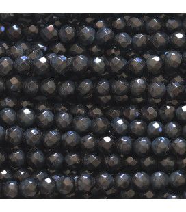 BeauMonde Jewelry - Falcon's eye 4 mm round faceted bead