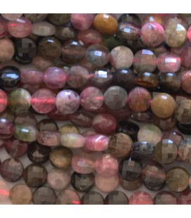 BeauMonde Jewelry - Tourmaline mixed 6 mm faceted medallion