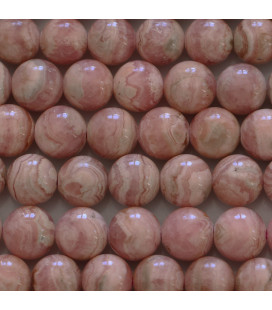 BeauMonde Jewelry - Rhodocrosite 8 mm round bead quality A/A Argentina