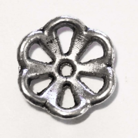 BeauMonde Jewelry - Rosette cup silver metal 12 mm