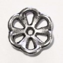 Rosette cup silver metal 12 mm