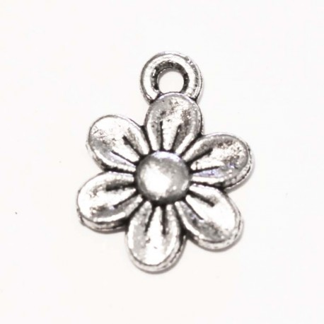 BeauMonde Jewelry - Flower necklace pendant metal silver 10 mm
