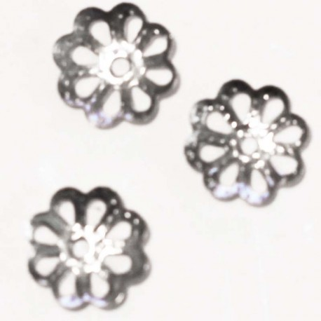 BeauMonde Jewelry - Cup thin flower metal silver 7 mm