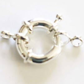 Silver metal bouet clasp 17 mm