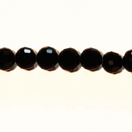 BeauMonde Jewelry - Glass beads faceted black 8 mm