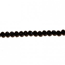 BeauMonde Jewelry - Round bead faceted black 6 mm