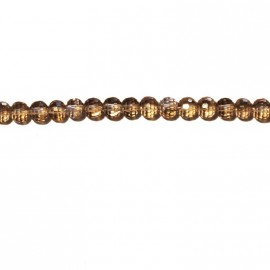 BeauMonde Jewelry - Round faceted smoky bead 6 mm