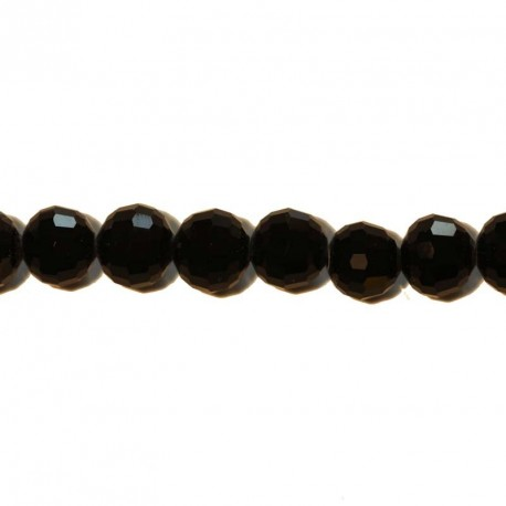 BeauMonde Jewelry - Faceted black bead 10 mm
