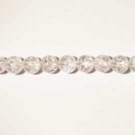 BeauMonde Jewelry - Crystal crackle round pearl 6 mm