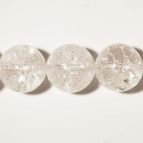 BeauMonde Jewelry - Crystal crackled round bead 14 mm