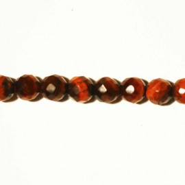 BeauMonde Jewelry - Red tiger eye faceted bead 6 mm