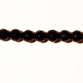 BeauMonde Jewelry - Black agate faceted bead 6 mm