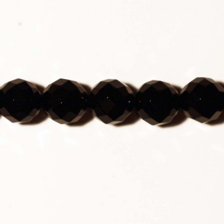 BeauMonde Jewelry - Black agate faceted bead 8 mm