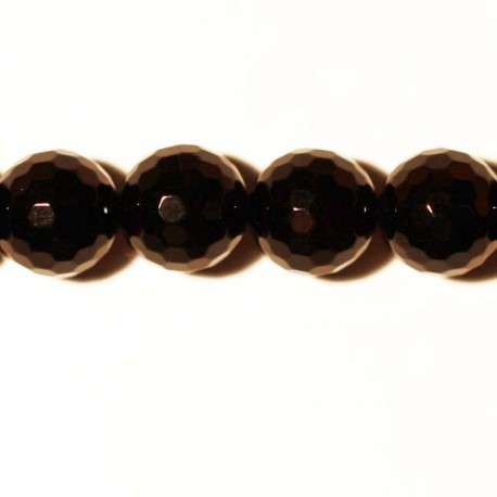 BeauMonde Jewelry - Black agate faceted bead 10 mm