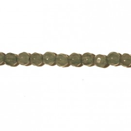 Aventurine 4 mm faceted round pearl