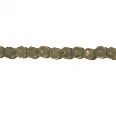 BeauMonde Jewelry - Aventurine 4 mm faceted round pearl