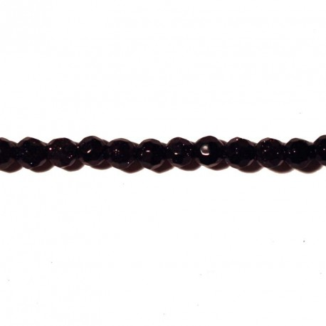 BeauMonde Jewelry - Blue gold stone 4 mm faceted round bead