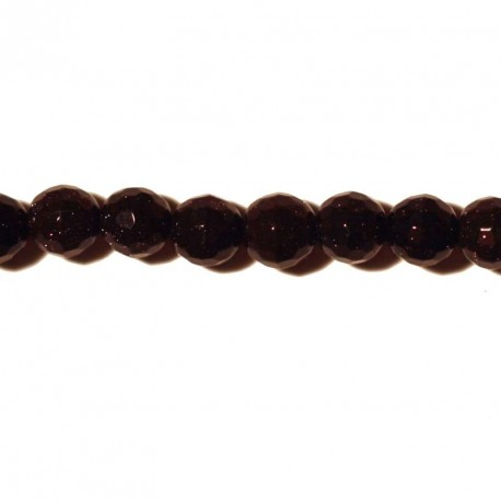 BeauMonde Jewelry - Blue gold stone 6 mm bead round faceted
