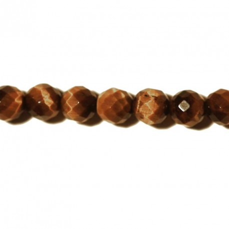 BeauMonde Jewelry - Tiger eye round faceted bead 6 mm