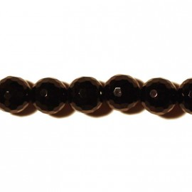 Onyx Pearl 8 mm round faceted