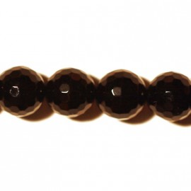 Onyx round faceted beads 10 mm