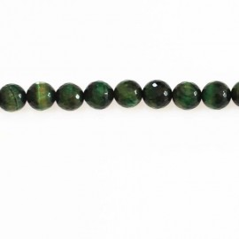 BeauMonde Jewelry - Tiger eye 12mm round bead faceted green tinted