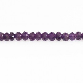 BeauMonde Jewelry - Amethyst 4x6 mm faceted washer