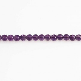 BeauMonde Jewelry - Amethyst 5.5 / 6 mm round bead Brazil