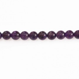 BeauMonde Jewelry - Amethyst 8 mm round bead Brazil