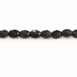 BeauMonde Jewelry - Blue gold stone 10 x 12 mm olive faceted