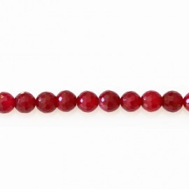 BeauMonde Jewelry - Agate 8 mm beads faceted round fuchsia