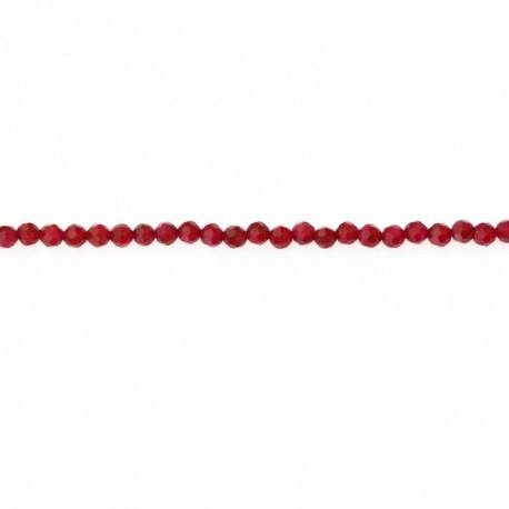 BeauMonde Jewelry - Agate 4 mm bead faceted round fuchsia