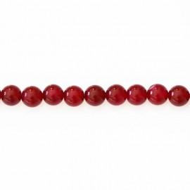 Agate 8 mm beads round fuchsia