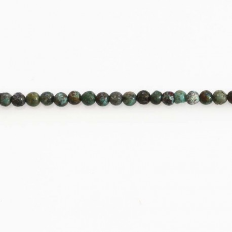 BeauMonde Jewelry - Turquoise 4 mm African natural round bead