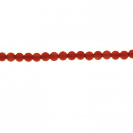 BeauMonde Jewelry - Carnelian 4 mm round bead (red agate) Brazil