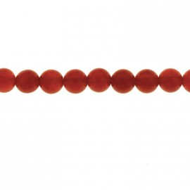 BeauMonde Jewelry - Carnelian 6 mm round bead (red agate) Brazil