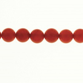 BeauMonde Jewelry - Carnelian 8 mm round bead (red agate) Brazi