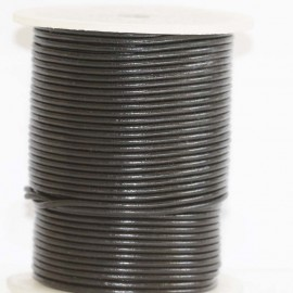 Leather 1.5 mm black coil of 50 Mt