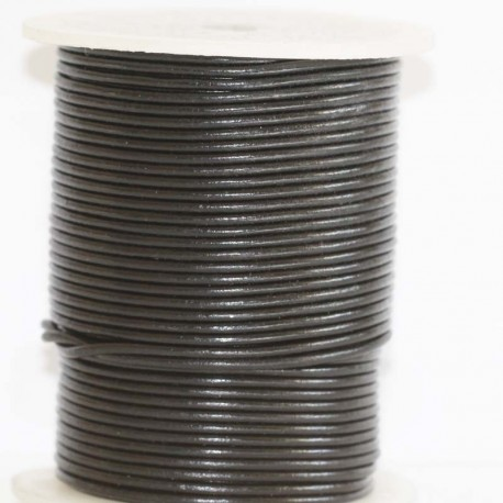 BeauMonde Jewelry - Leather 1.5 mm black coil of 50 Mt